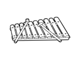 Dibujo de Un xylophone