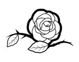 <span class='hidden-xs'>Coloriage de </span>Une belle rose à colorier