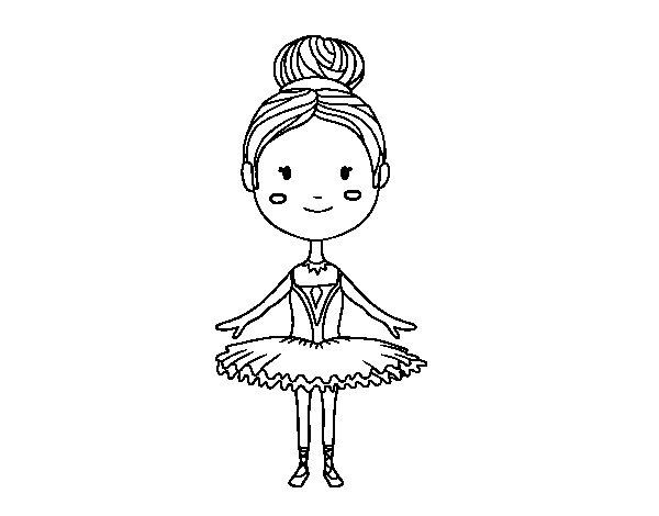 Coloriage de Une danseuse de ballet pour Colorier