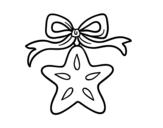 <span class='hidden-xs'>Coloriage de </span>Une étoile de Noël à colorier