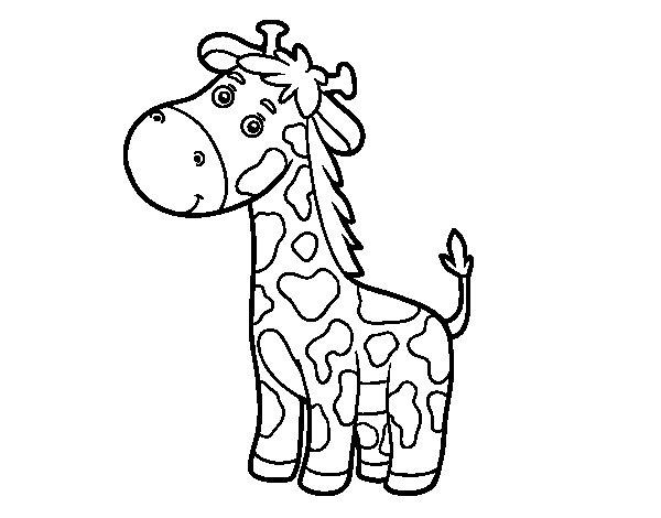 Coloriage de Une girafe pour Colorier