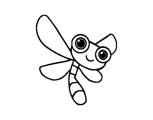 Coloriage de Une libellule pour Colorier