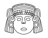 Dibujo de Une masque mexicain