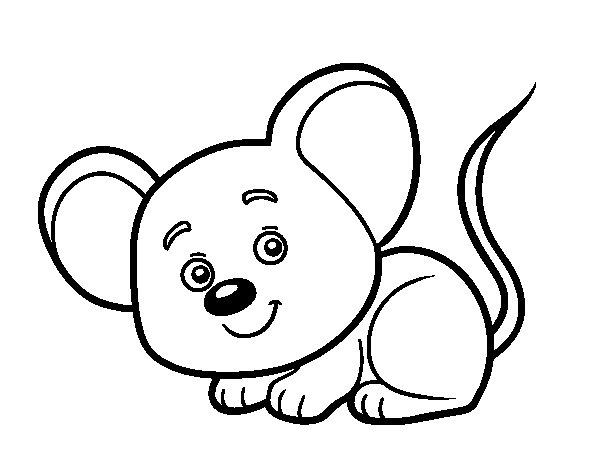 Coloriage de une petite souris pour colorier - Dessin petite souris ...