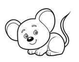 <span class='hidden-xs'>Coloriage de </span>Une petite souris à colorier