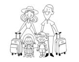<span class='hidden-xs'>Coloriage de </span>Vacances en famille à colorier