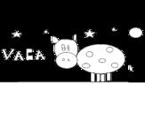 <span class='hidden-xs'>Coloriage de </span>Vache et étoiles à colorier
