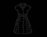 <span class='hidden-xs'>Coloriage de </span>Vêtement pinup à colorier