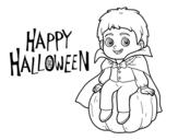 <span class='hidden-xs'>Coloriage de </span>Vampire pour Halloween à colorier