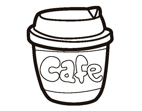 Coloriage de verre de caf pour colorier - Verre coloriage ...