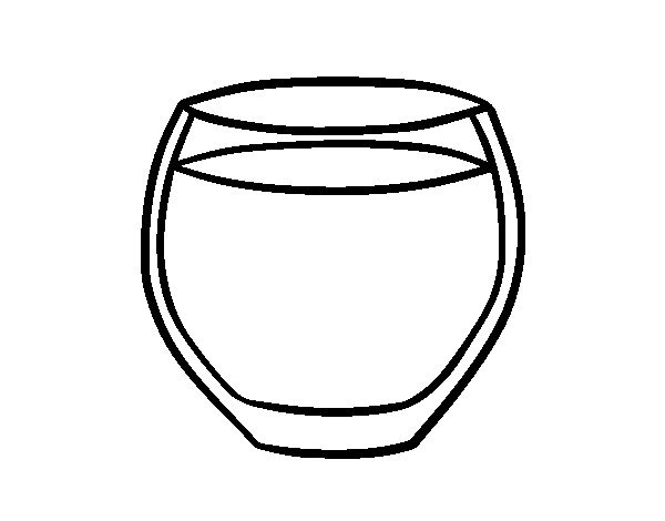 Coloriage de verre d 39 eau pour colorier - Dessin de verre ...