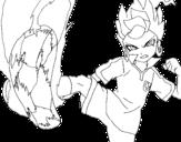 <span class='hidden-xs'>Coloriage de </span>Victor Blade coups de pied à colorier