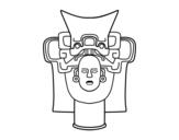 Dibujo de Vieux masque mexicain
