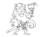 <span class='hidden-xs'>Coloriage de </span>Vikings célébrant à colorier