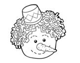 <span class='hidden-xs'>Coloriage de </span>Visage de bonhomme de neige à colorier