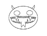 <span class='hidden-xs'>Coloriage de </span>Visage de démon à colorier