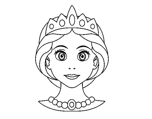 Coloriage de visage de princesse pour colorier - Coloriage visage ...