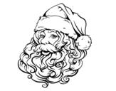 Dibujo de Visage du Père Noël pour Noël