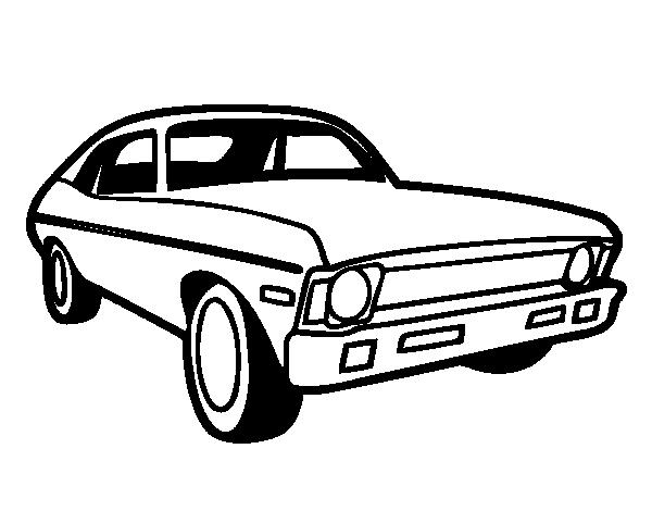 coloriage de voiture am u00e9ricain pour colorier