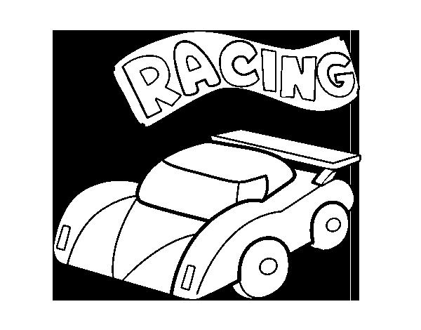 Coloriage de voiture de course pour colorier - Coloriage voiture de courses ...