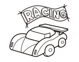 <span class='hidden-xs'>Coloriage de </span>Voiture de course à colorier