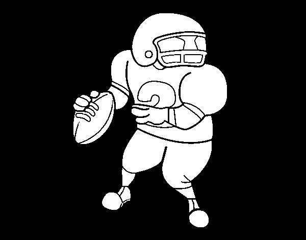 Coloriage de wide receiver pour colorier - Dessin football americain ...