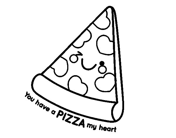 Coloriage de You have a pizza my heart pour Colorier