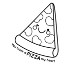 <span class='hidden-xs'>Coloriage de </span>You have a pizza my heart à colorier
