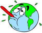 Coloriage Réchauffement climatique colorié par m .l kl-