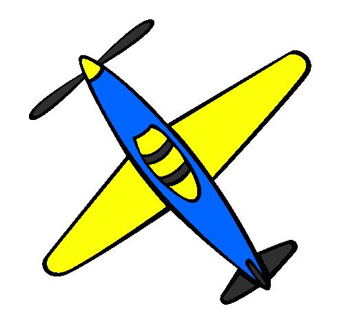 Dessin de avion iii colorie par membre non inscrit le 05 - Dessin avion stylise ...