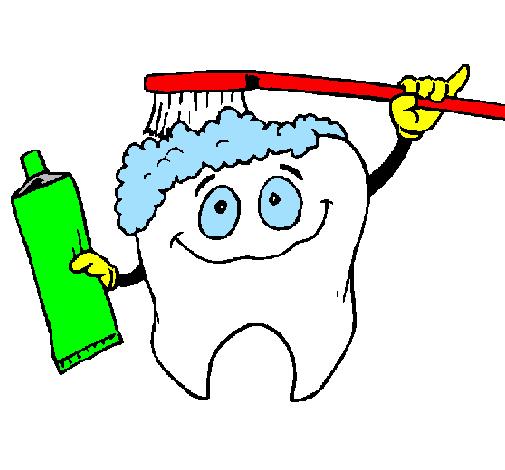 Dessin de dent soign e colorie par membre non inscrit le - Dessin de dent ...