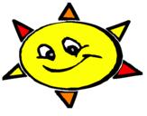Coloriage Soleil souriant colorié par j osi ane
