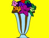 Coloriage Vase de fleurs colorié par ana bia