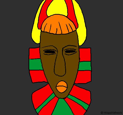 Hervorragend Dessin de Masque africain colorie par Membre non inscrit le 14 de  OI72