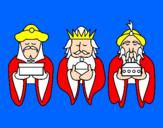 Coloriage Les rois mages 4 colorié par apolline