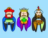 Coloriage Les rois mages 4 colorié par arthur