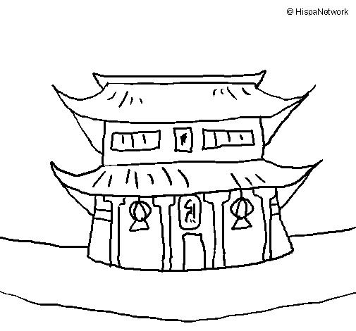 Dessin Japonais Facile dessin de temple japonais colorie par membre non inscrit le 25 de