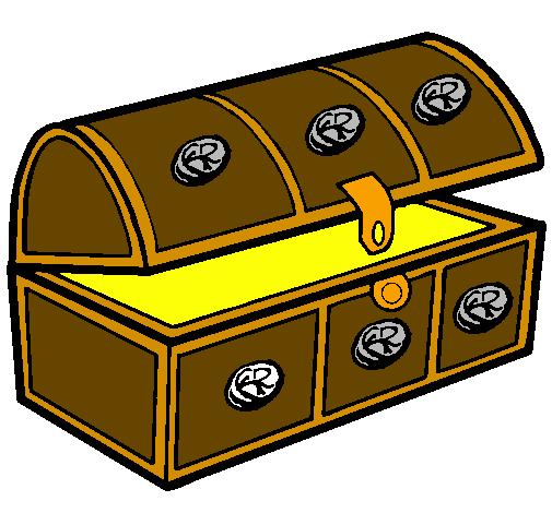 Dessin de coffre colorie par membre non inscrit le 04 de - Dessin de coffre de pirate ...
