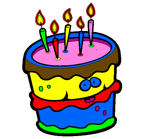 Dessin de g teau d 39 anniversaire 2 colorie par membre non - Dessin gateau anniversaire 6 ans ...