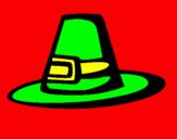 Coloriage Chapeau pèlerin colorié par Rock Leone
