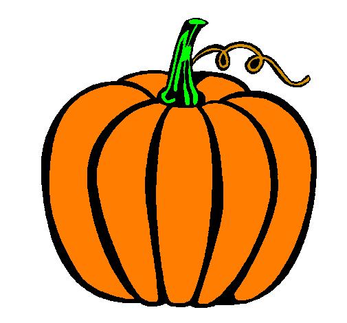 Dessin de grande citrouille colorie par membre non inscrit le 26 de f vrier de 2011 - Citrouille halloween dessin couleur ...