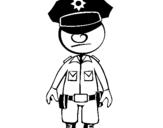 Coloriage Agent de police colorié par MARTIN