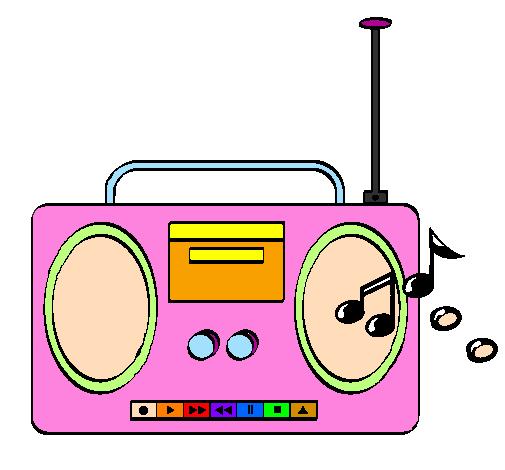 Xylophone Dessin de Radio casset...