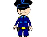 Coloriage Agent de police colorié par Guingouain Mariwenn