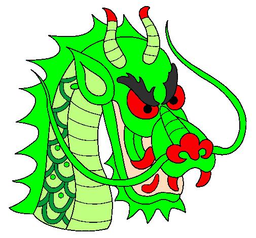 Dessin de t te de dragon colorie par membre non inscrit le 06 de mars de 2011 - Dessin de tete de dragon ...