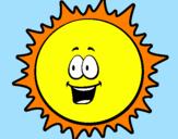 Coloriage Soleil colorié par ABC