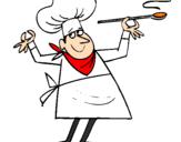 Coloriage Cuisinier II colorié par alala
