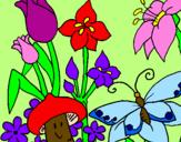 Coloriage Faune et flore colorié par VALENTINA