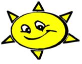 Coloriage Soleil souriant colorié par soleil