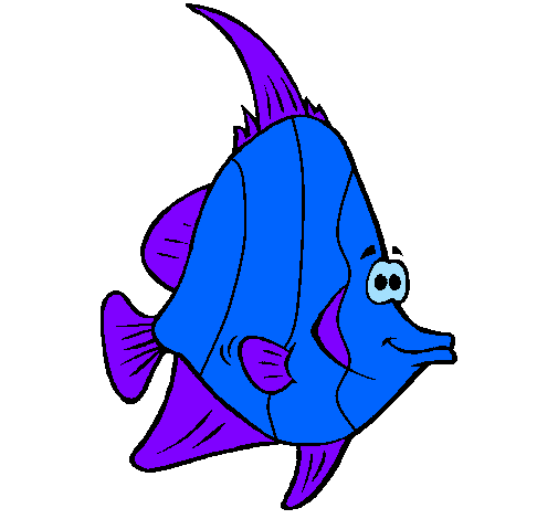Dessin de poisson tropical colorie par membre non inscrit le 16 de mars de 2011 - Dessin poisson stylise ...